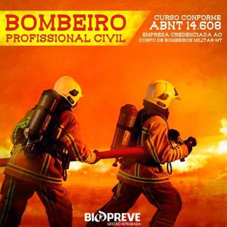 BOMBEIRO CIVIL – Início 28 de julho/18
